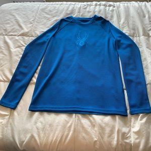 Boys blue spyder long sleeve shirt